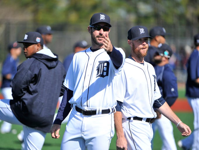 Pitcher Justin Verlander explains to the strength and