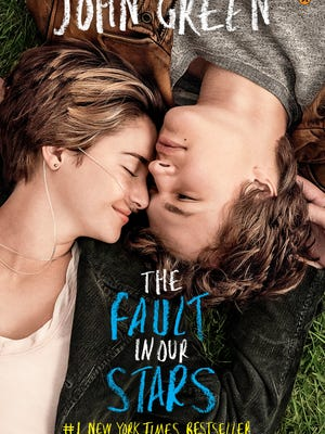"Movie tie-in cover of the book ""The Fault in Our Stars"" by John Green."