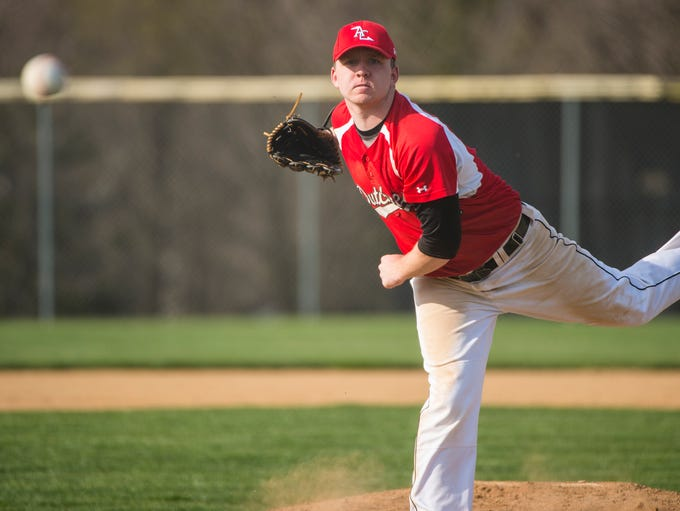 Annville-Cleona's Mitch Long delivers a pitch during