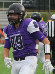 Defensive end Jack Sape has worked hard to improve