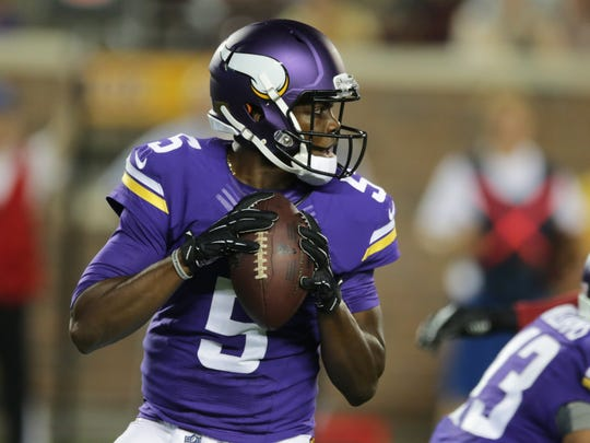 Teddy Bridgewater, 25, stepped on the field as a backup for the Vikings late last season after missing nearly two years because of a knee injury. He has said he wants to be a starter next season, but it's unclear if he'll get that chance.
