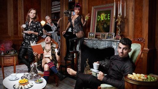 This cover image released by Republic Records shows the self-titled album for DNCE.