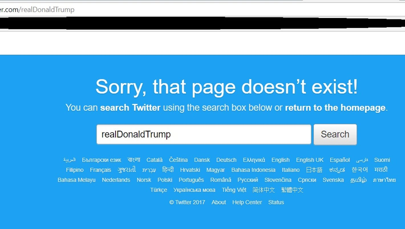 Where 39 d trump 39 s twitter account go here 39 s what happened for R s bains twitter
