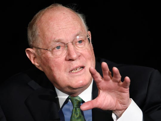 Supreme Court Justice Anthony Kennedy speaking in San