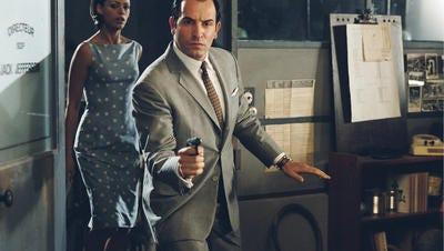 "Rakish French spy Jean Dujardin, assisted by B?r?nice Bejo, take on notorious spy chief Bibi Netanyahu in ""OSS 117: Cairo, Nest of Spies"""