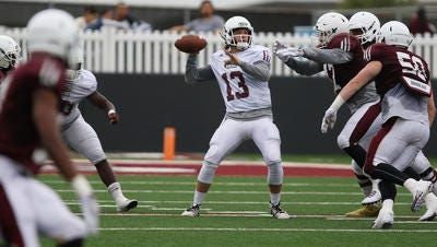 Sophomore quarterback Garrett Smith (13) was once again at the top of ULM's depth chart as the first-team quarterback.