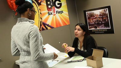 Six Flags Great Adventure in Jackson plans to host monthly job fairs.