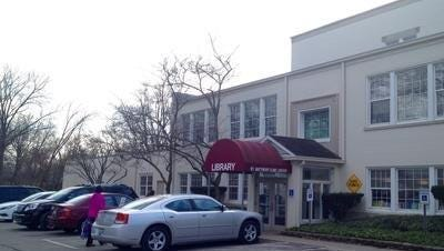 The St. Matthews-Eline library branch in St. Matthews City Hall would be expanded in back as part of a proposed $4.5 million improvement project at the building, 3940 Grandview Ave.