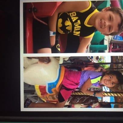Rene Pasztor, 6, and Liliana Hernandez, 7