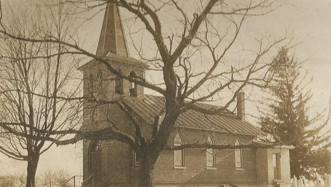 St. Paul's Lutheran Chruch, circa 1904. The various Lutherans in Monroe County all started with the arrival of Simeon Knab in 1828.