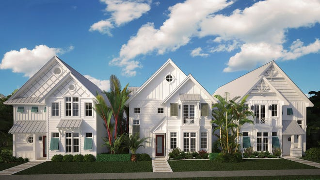 Stock Custom Homes will start construction of the first of three furnished 3,823-square-foot, two-story Row Houses on Sixth Street South in Old Naples this month.