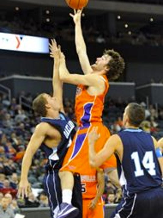 """UE busted out its all-orange jerseys on Tuesday for the first time this season. """"I had no idea until when I walked into the locker room before the game,"""" said sophomore Ryan Sawvell, who scored a career-high 16 points."""