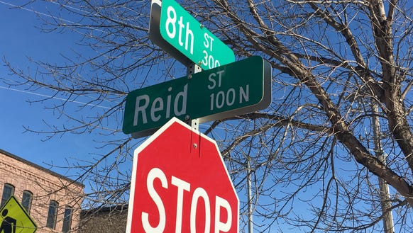 Alex Reid's name is commemorated on a downtown street