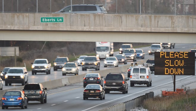 Traffic moves along Interstate 83 between the Market Street and Route 30 exits. PennDOT plans to reconstruct and widen the highway between the North George Street and Mount Rose Avenue interchanges. It's expected to help with safety, but the project is still years away.