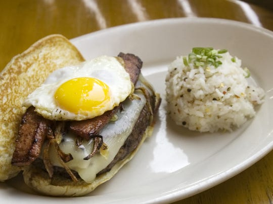 "The ""Loco Moco Burger"" at the Roaring Fork Restaurant"