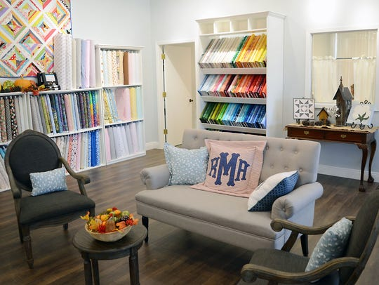 The Cotton Blossom Fabric Shop has a fresh, welcoming