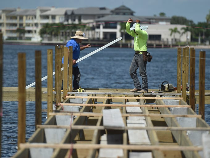 Construction Of Cole Coppola Memorial Fishing Pier In Vero Beach