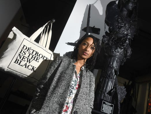 Detroit is the New Black founder Roslyn Karamoko stands