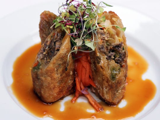 One of the appetizers served at Metropolitan Cafe in Freehold is a spring roll of filet mignon, French beans and orange soy.