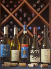 A variety of southern Italian wines are displayed in