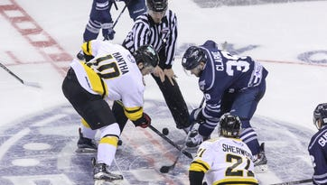 Photos: Ice Flyers surrender late goal in loss to River Kings