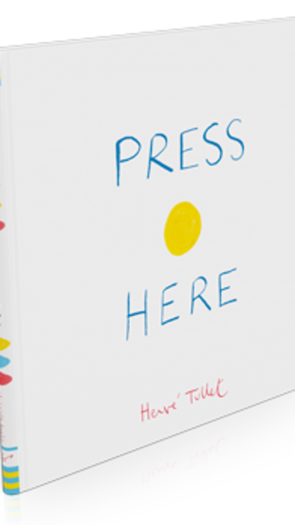 """New York Times bestselling book """"Press Here"""" by Herve Tullet. provided photo"""