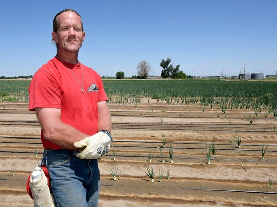 Corey Kubat in Canyon County, ID, is part of a working crew at the Idaho Department of Corrections which serves the community as a farm hand.