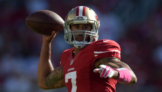 "Colin Kaepernick says he'll ""continue to sit"" during the national anthem until he sees ""significant change."""