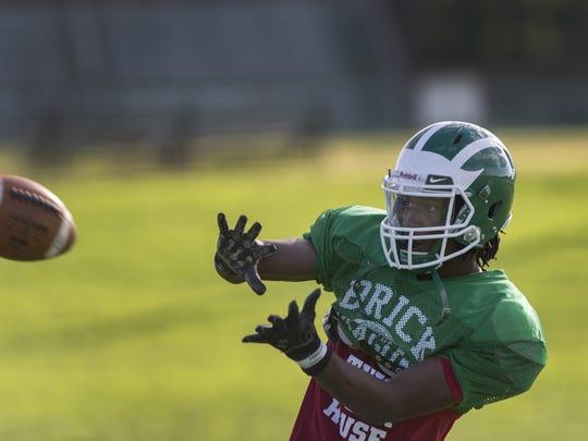 Brick wide receiver Ja'Sir Taylor during Brick High