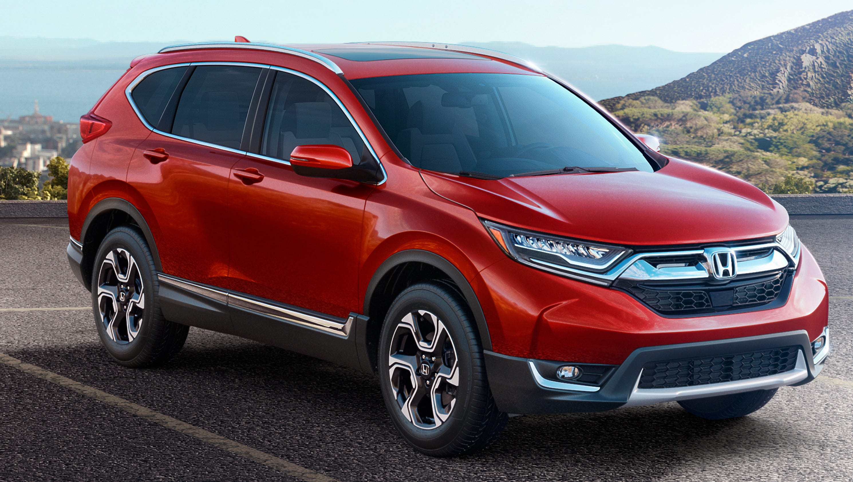 Honda unveils larger more powerful cr v compact suv for Honda compact suv