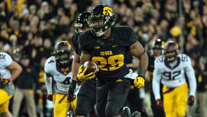 LeShun Daniels has a hand in Iowa's 14 plays of 40 yards or more.