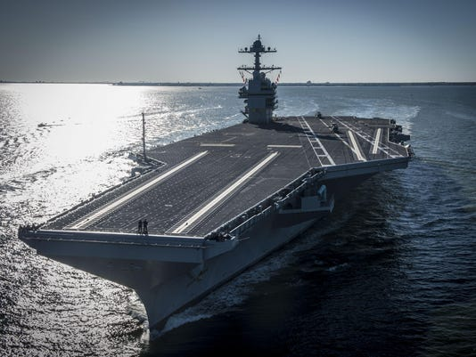 USS Gerald R. Ford Begins Builder's Sea Trials