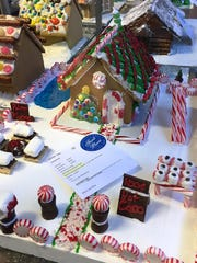 Leah EthelMyers' gingerbread house won first place