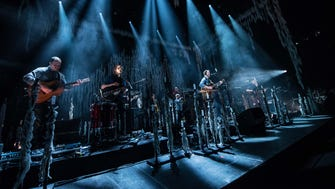 Bon Iver performs at a sold-out BMO Harris Bradley Center on Feb. 17, 2018.