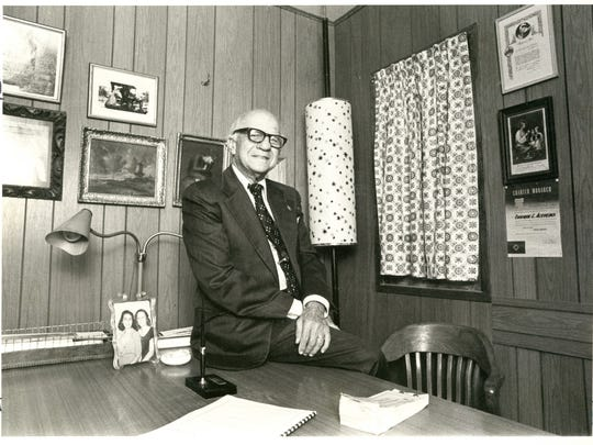 """Don Enrique Acevedo, known as """"Mr White House,"""" in an October 1979 photo. He started with the White House department store in 1913 as  a delivery boy and rose through the ranks to become the public face of the store. He also was a founder of the Juarez Lion's Club in 1947, and became a member of the El Paso City Civil Service Commission in the late '60s. He had three children: Josefina Salas-Porras, Maria Elena Flood and Jorge Acevedo."""
