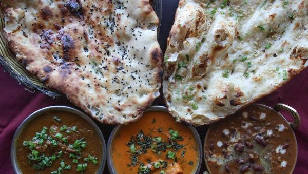At Aamantran Indian Cuisine in Toms River, naan is served with a variety of entrees.