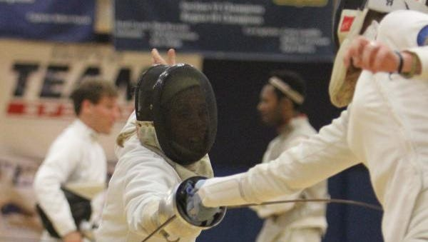 Michelle Verhave of Croton Falls competes in the Empire State Games fencing competition at Niagara High School on July 23, 2010.