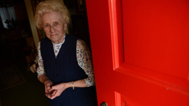 Behind the bright red door on Maddox Boulevard lives arguably Chincoteague's bluest citizen. Helen Merritt, 88, a lifelong Chincoteague resident, is one of the few Democrats on an island dominated politically by Republicans.