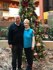 Brad Morris and birth mother Martha Beaird met shortly after Christmas 2017.