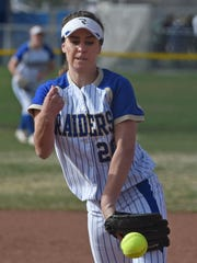 Reed's Julia Jensen pitches against Damonte Ranch last