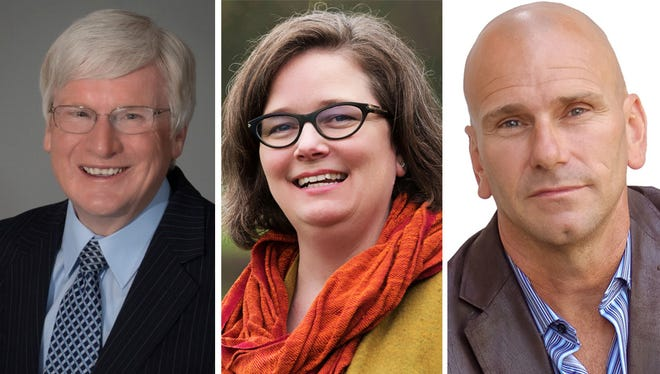 Incumbent Republican Glenn Grothman (left), Democrat Sarah Lloyd (center), and Independent Jeff Dahlke are running for Wisconsin's 6th District congressional seat.