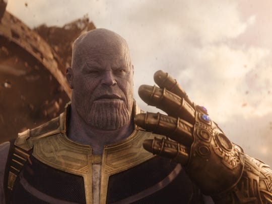 Thanos (Josh Brolin) in a scene from Marvel Studios'