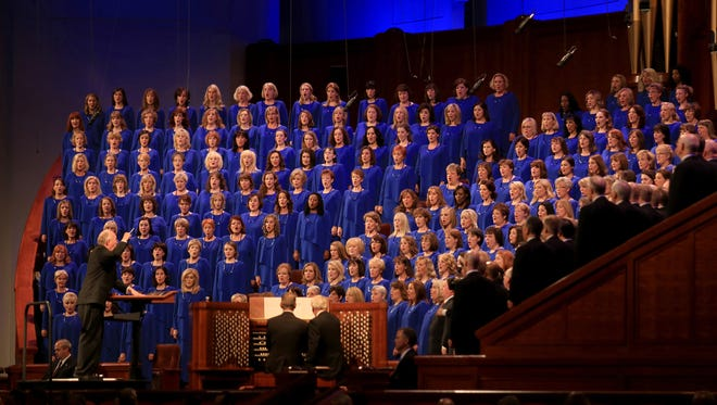"The Mormon Tabernacle Choir performs the 184th Semiannual General Conference of The Church of Jesus Christ of Latter-day Saints in Salt Lake City on October 5, 2014. The choir is planning live performances of Handel's ""Messiah"" on March 24 and 25 and inviting singers from all over the world to join in a virtual choir to sing the ""Hallelujah"" chorus. Brian Passey / The Spectrum & Daily News"