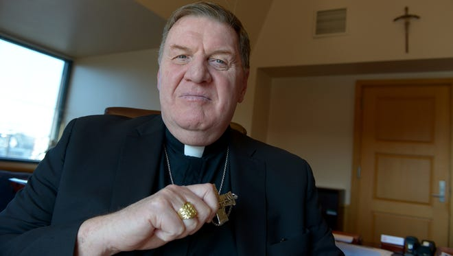 """Cardinal Joseph William Tobin during an interview with columnist Charles Stile. """"I look at these initial weeks and months as time to keep my mouth shut and my ears open,'' he said."""
