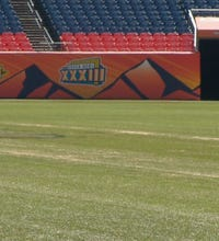 Here's what the field looks like after a Broncos' game
