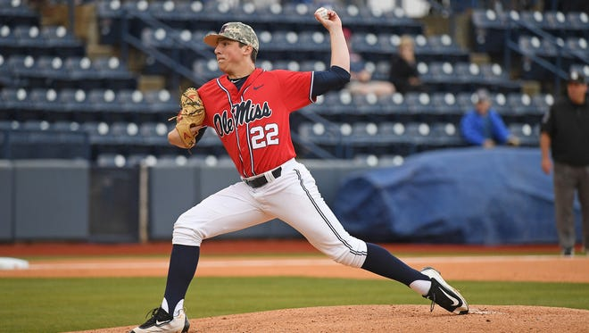 Starting pitcher Ryan Rolison is one of many true freshmen Ole Miss will count on in the final two weeks of the regular season.