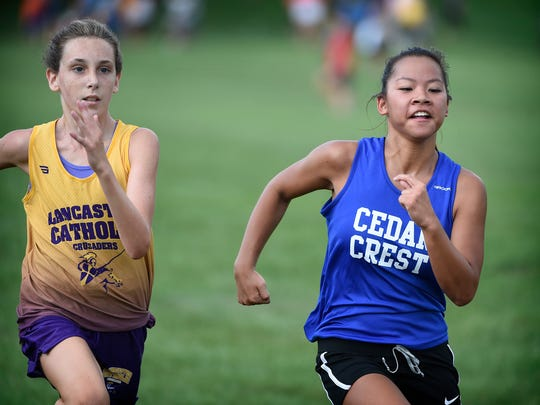 Cedar Crest High School cross country runner Kayla