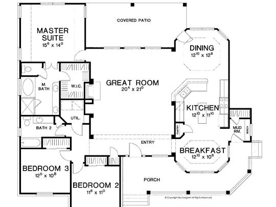 House of the week open light filled layout for Www eplans houseoftheweek