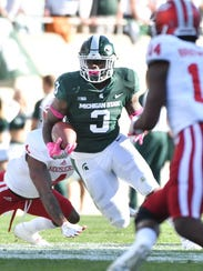 Expect LJ Scott to lead the Michigan State backfield