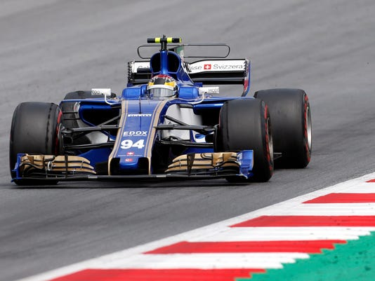 Sauber driver Pascal Wehrlein of Germany steers his car during the Austrian Formula One Grand Prix at the Red Bull Ring in Spielberg, Austria, Sunday, July 9, 2017. (AP Photo/Darko Bandic)